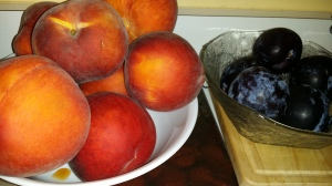 nectarines and plums